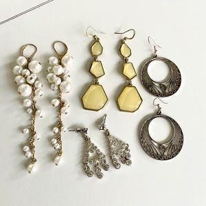 Jewelry - Small Jewelry Lot- 4 Pairs of Stylish Earrings